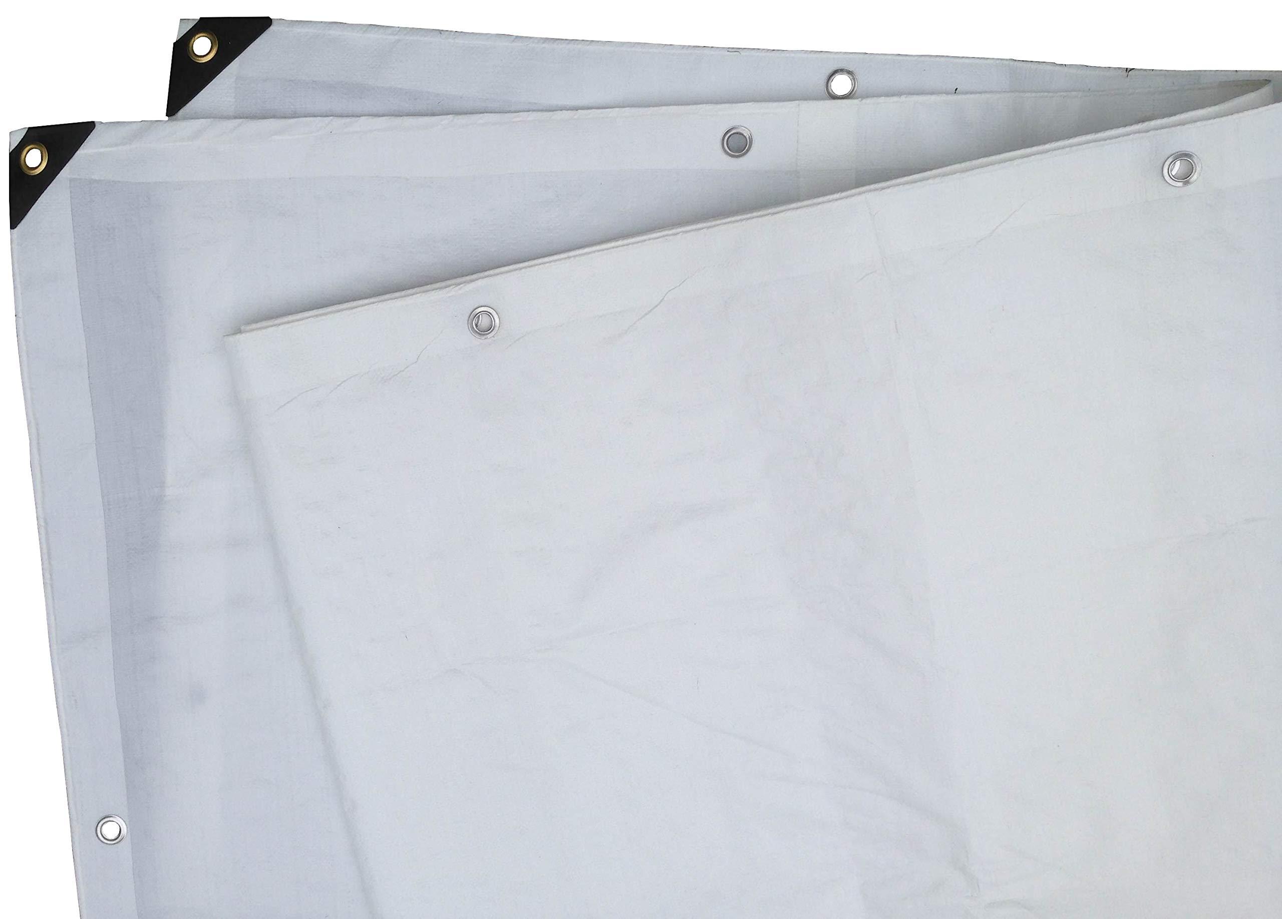 Heavy Duty White Tarp 6 OZ., 12'x20'