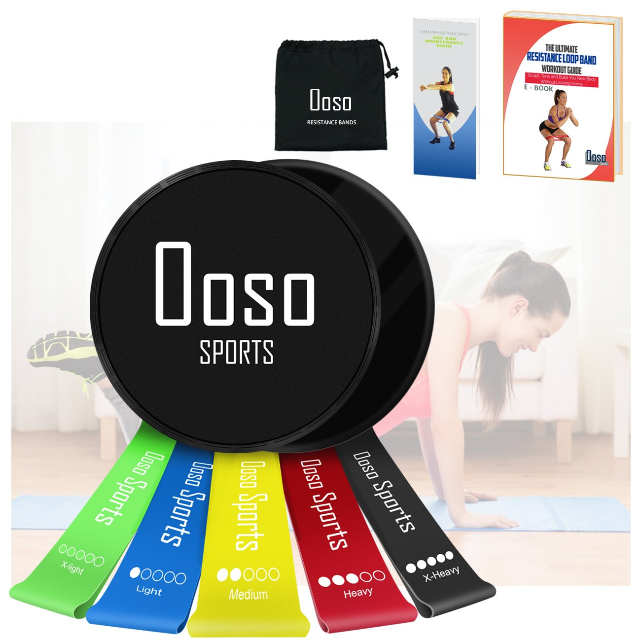 OOSO Resistance Bands Women/Men Set of 5/6, Exercise Resistance Loop Bands for Legs and Glutes, Home and Gym Workouts Resistance Elastic Bands for Pilates, Yoga, Fitness and Recovery Arms Crossfit Therapy Mobility Recovery by Ooso