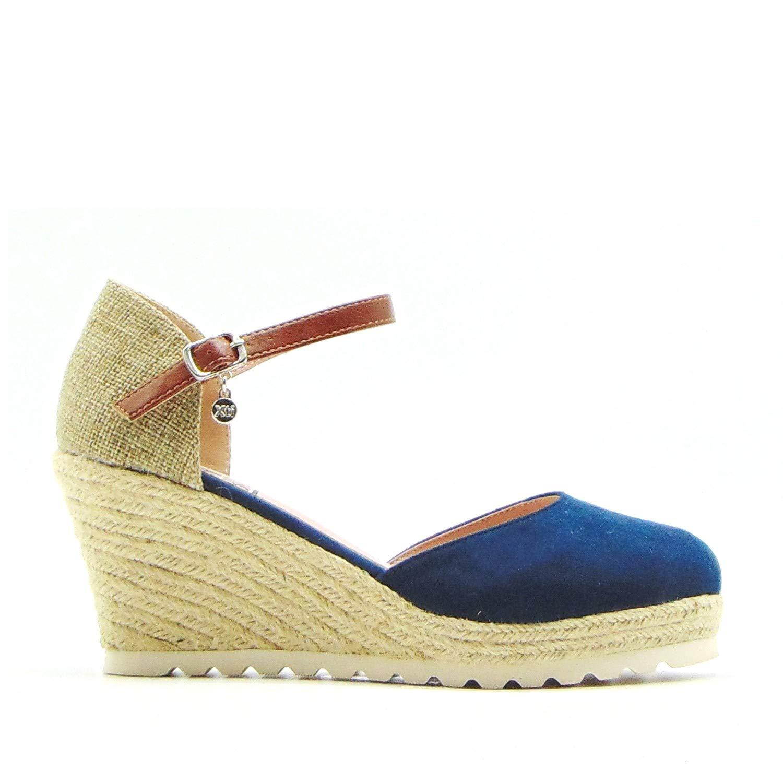 XTI - Sandalia XTI 34102 Esparto - 1122-39, Navy: Amazon.es: Zapatos y complementos