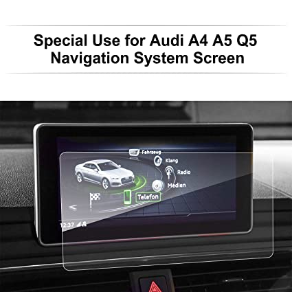 LFOTPP Audi A4 A5 8 3 Inch 2017 2018 Glass Car Navigation Screen Protector,  [9H] Clear Tempered Glass Infotainment Center Touch Screen Protector Anti