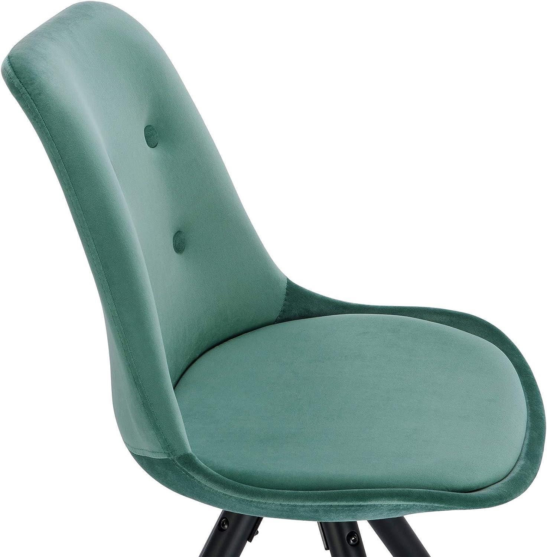 WOLTU 1 X Chaise de Salle /à Manger en Tissu Scientifique BH268an-1 Chaise de Salon Chaise de Cuisine Structure en Bois Massif Aspect Cuir Antique,Anthracite