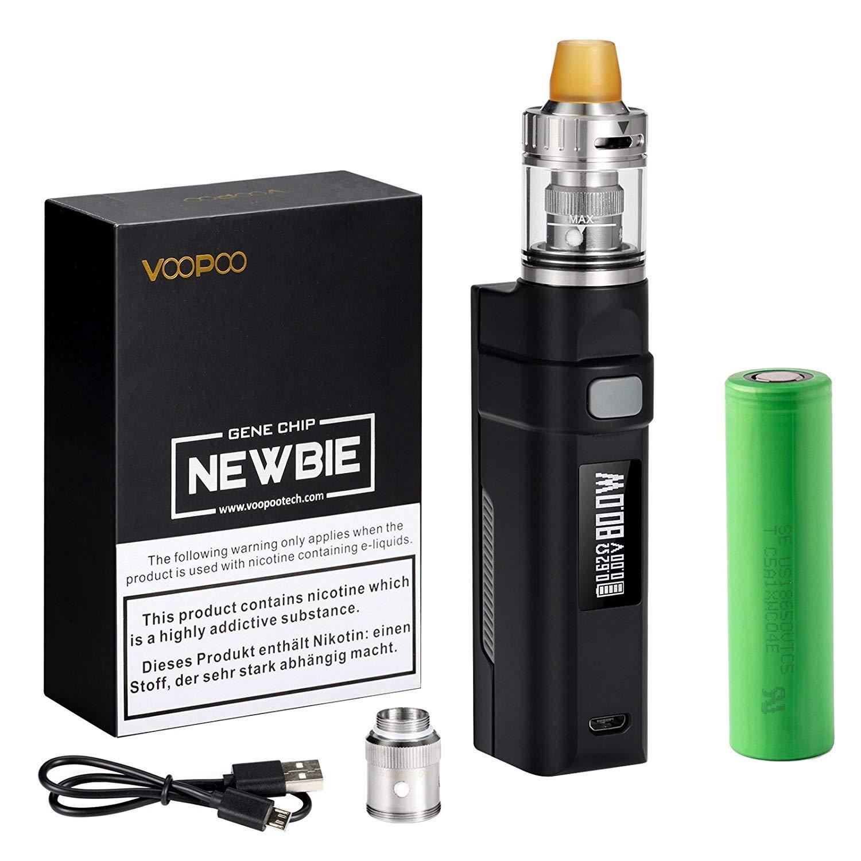 E Cigarette Starter Kit, 80W E Cig Vape Battery 2600mAH Kit Complete,Easy  Control Temperature/HD OLED / 0 2ohm Resistance/Top Fill Atomizer 2ml e cig