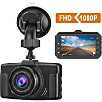 CHORTAU Dash Cam 1080P FHD 2019 New Version Car Dash Camera 3 inch Dashboard Camera with Night Vision, 170°Wide Angle, Parking Monitor, Loop Recording