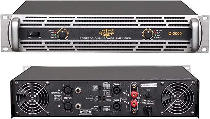 GTD Audio 2 Channel 6500 Watts Professional Power Amplifier Amp Stereo J6500