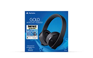 PlayStation Gold Wireless Headset Fortnite - PlayStation 4 (Color: Fortnite Black)