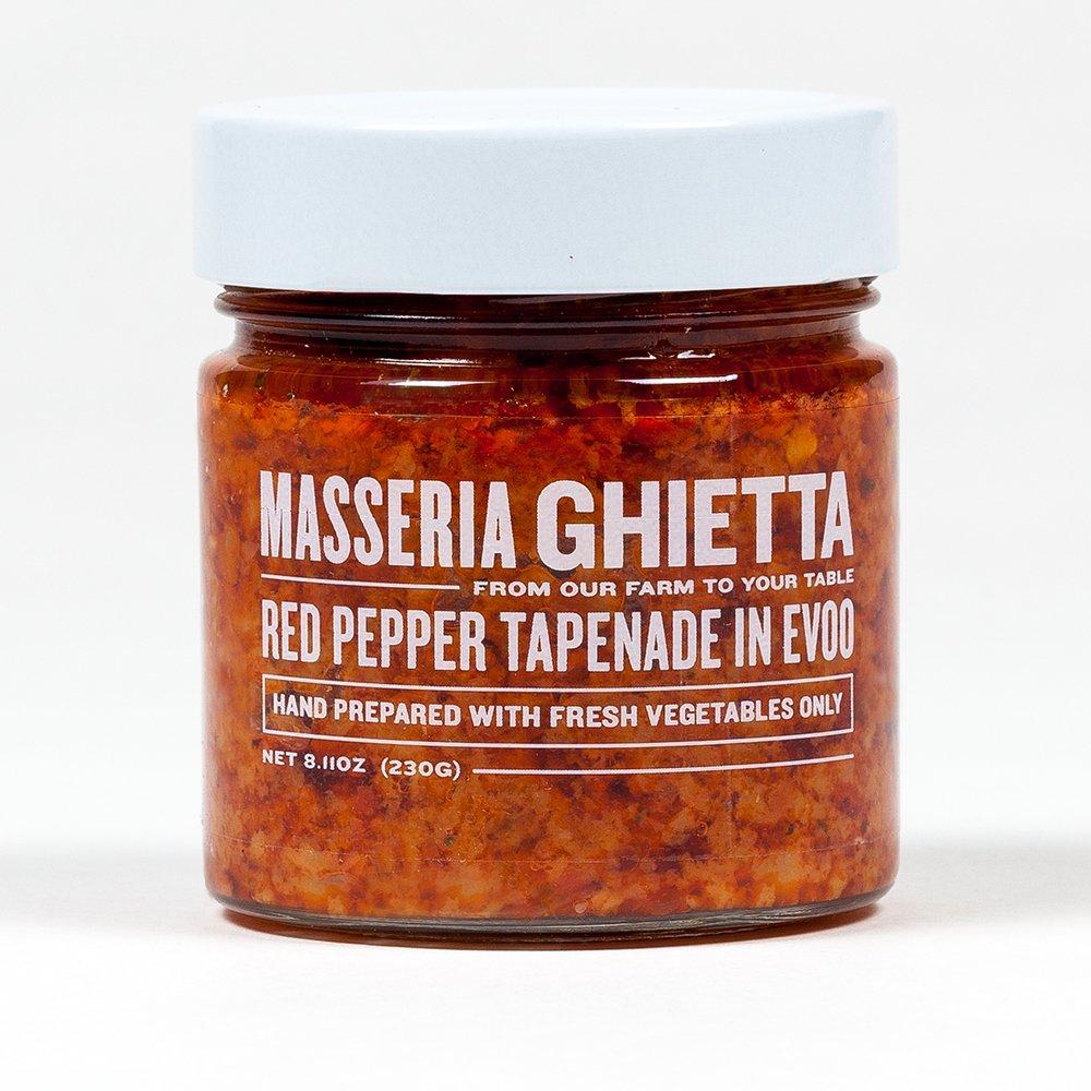 Masseria Ghietta Red Pepper Tapenade, 8.11 Ounce