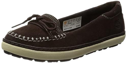 Timberland - Mocasines de Piel para Mujer Marrón marrón Oscuro, Color Marrón, Talla 37 EU: Amazon.es: Zapatos y complementos