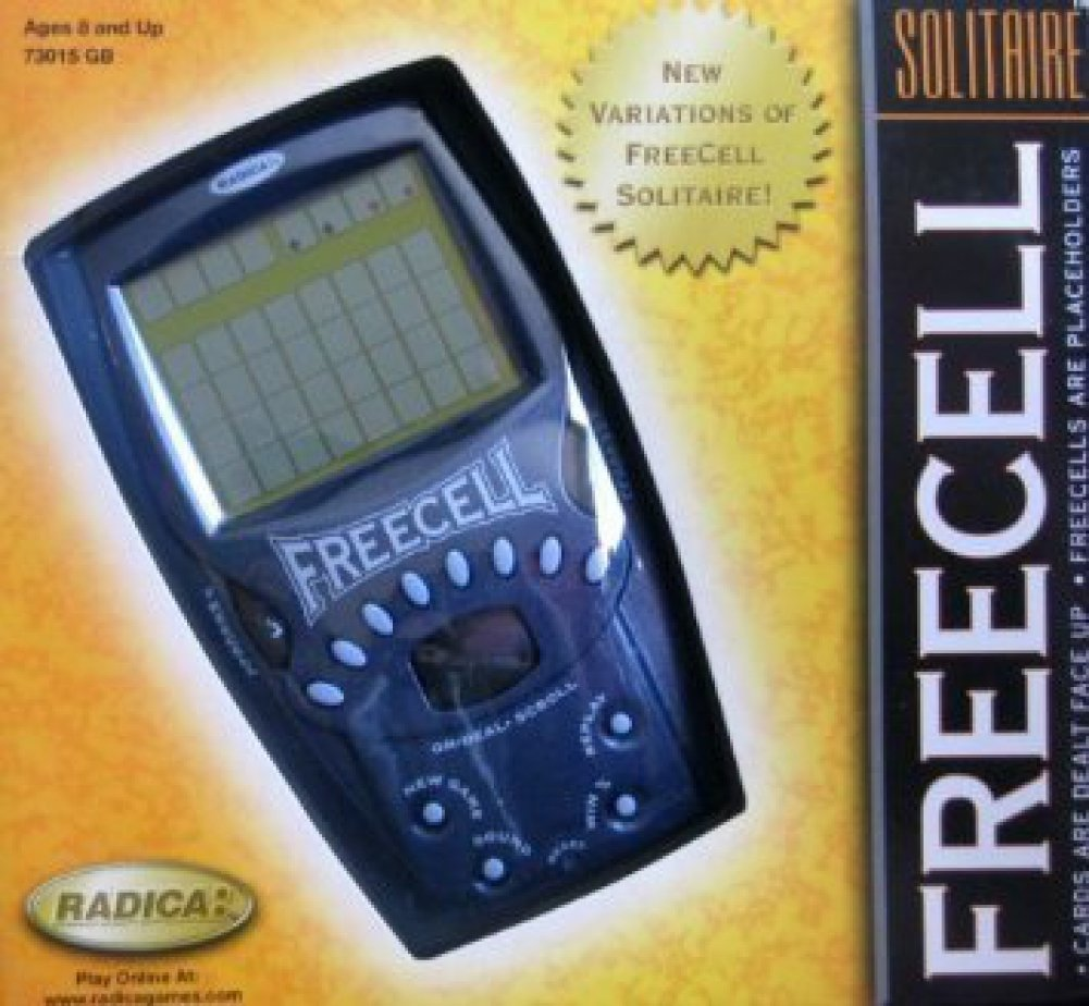 Freecell Radica big screen handheld game in Blue