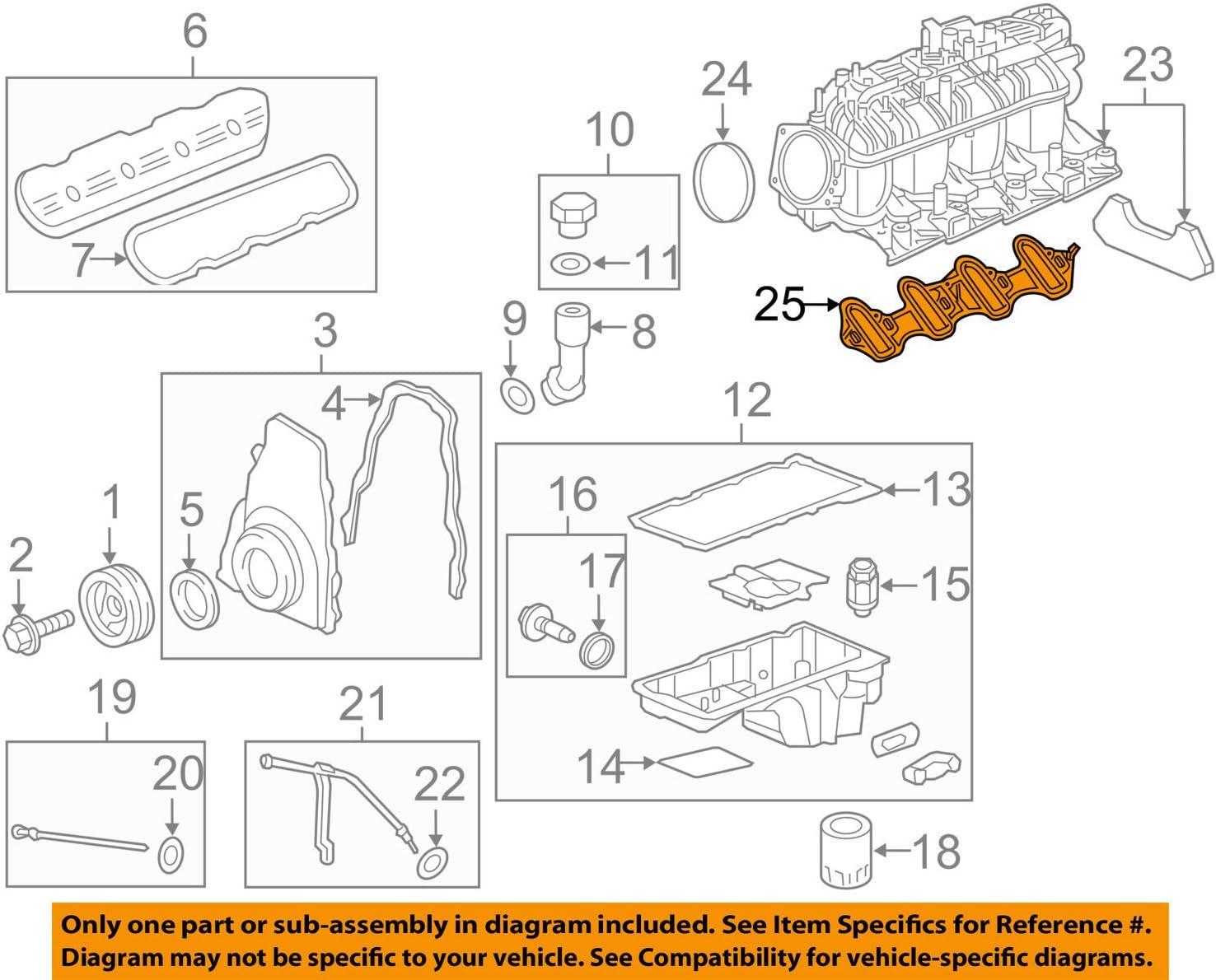 amazon.com: general motors 19207929, engine intake manifold gasket set:  automotive  amazon.com