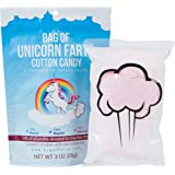 Bag of Farts Cotton Candy Funny for All Ages Unique Birthday Gag Gift for Friends, Mom, Dad, Birthday Girl, Boy Grandson Granddaughter Present Easter Basket Fun (Unicorn Farts Cotton Candy)