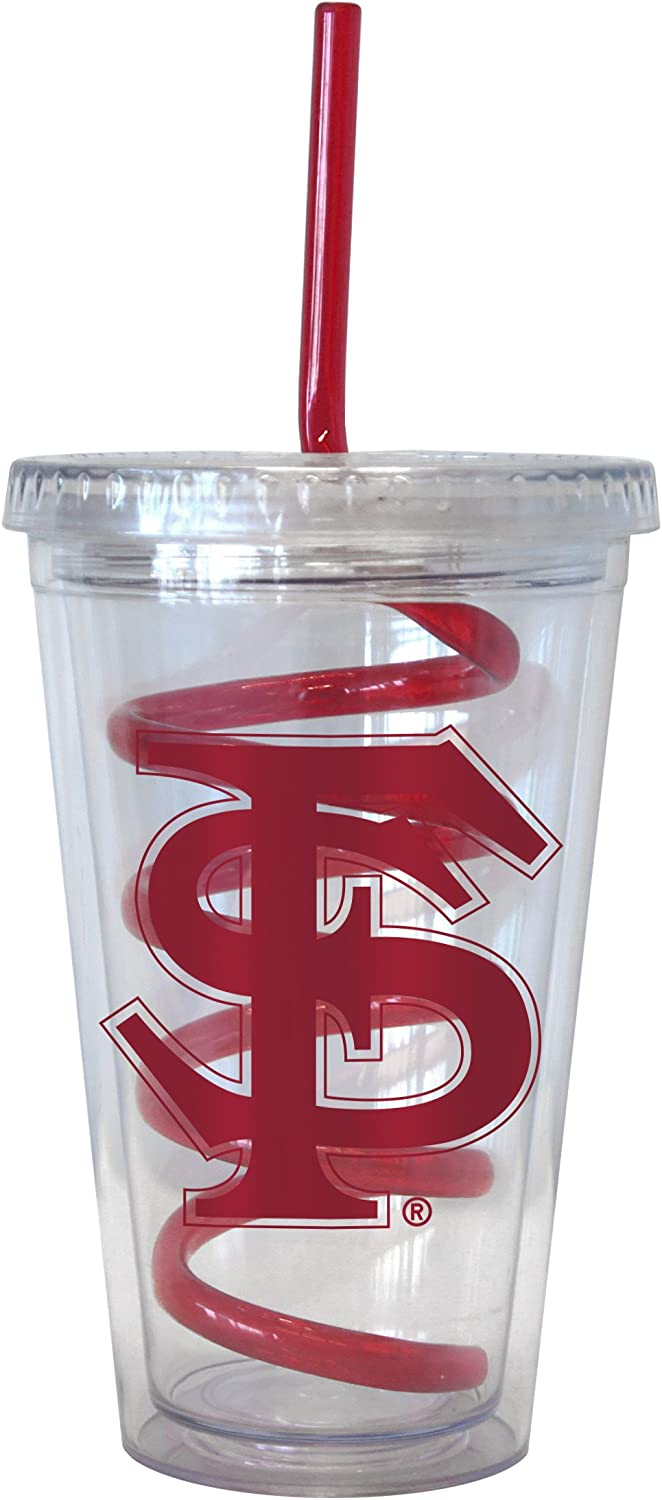 NCAA Florida State Seminoles Tumbler with Swirl Straw 16-ounce