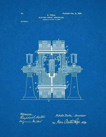 Amazon.com: Tesla Electric Circuit Controller Patent Print Art ...