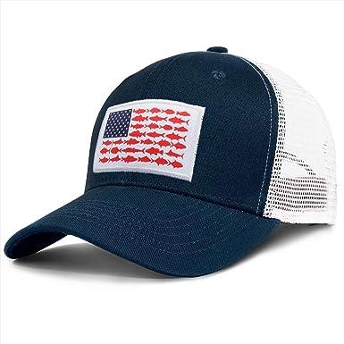 Patriot Trucker Hat Blue Ball Cap Fly Fishing MAGA Fishing Hat