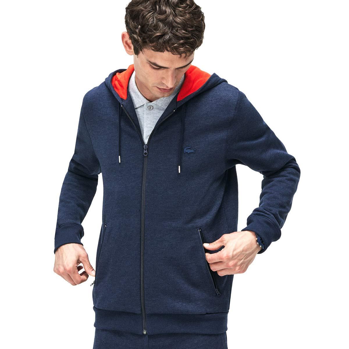 Lacoste Herren SH9217 Bewegung Hooded Fleece Zip Sweatshirt