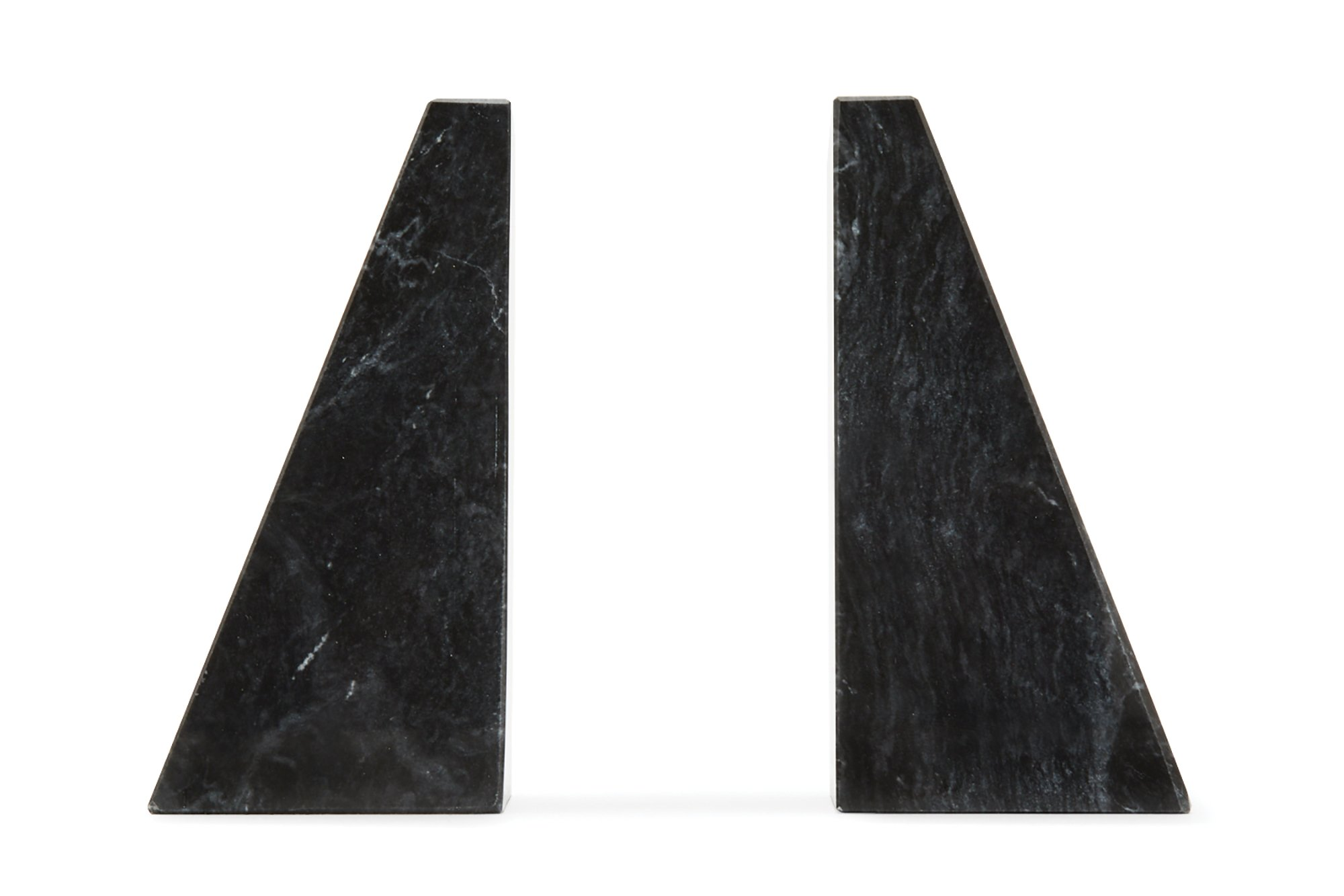 Fox Run Triangular 100% Natural Polished Black Marble Bookends by Fox Run (Image #2)