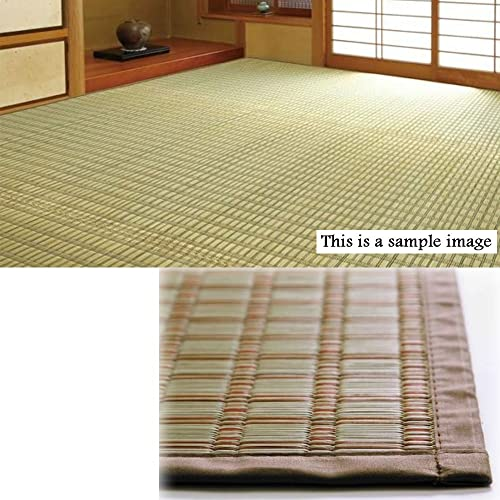 Comolife Natural Light Orange Japanese Tatami Goza Mat, Size 67.86 x 101.79 Inch