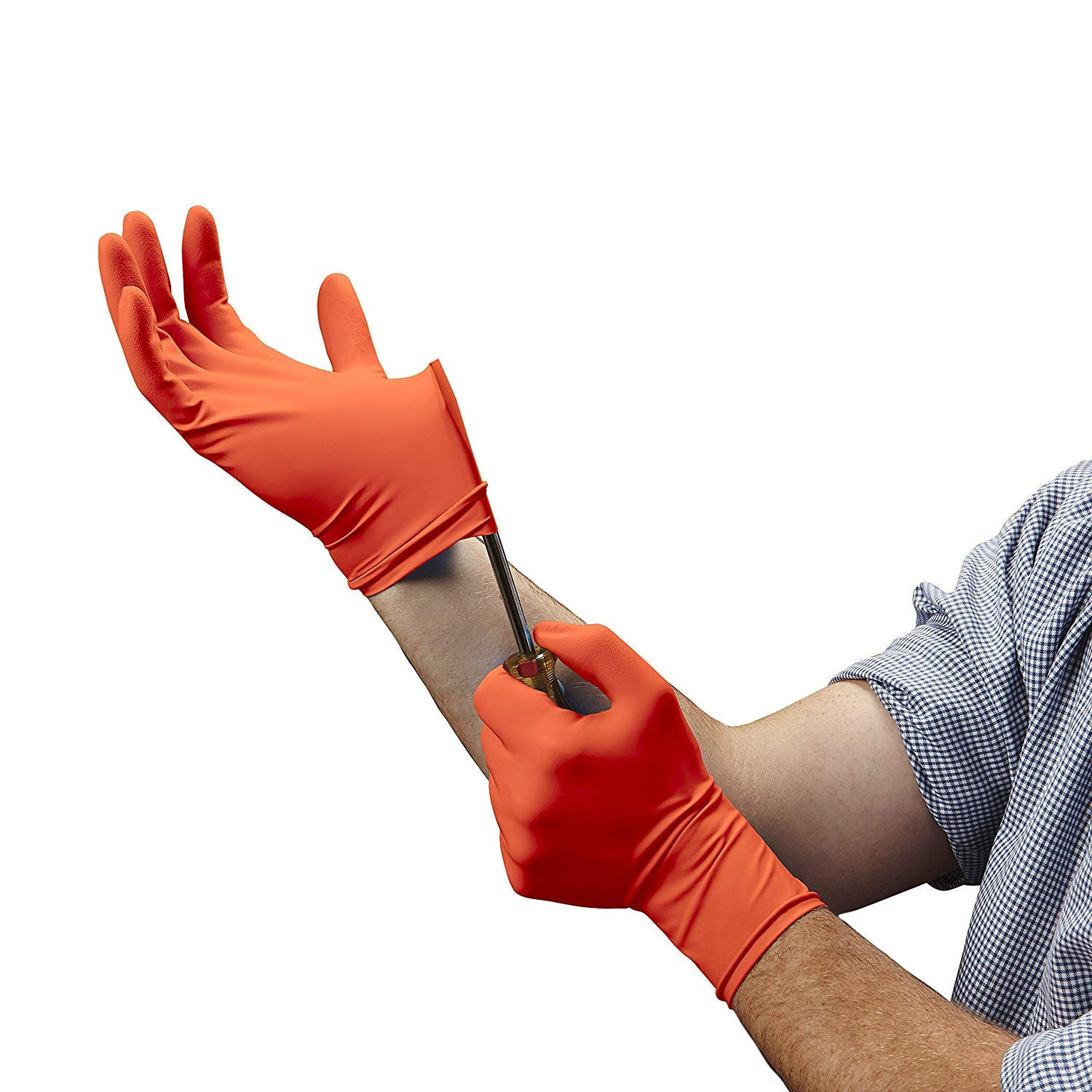 Venom Steel Sportsman Nitrile Gloves with 12 inch Cuff, 6 mil Rip Resistant Field Dressing Gloves, One Size Fits Most (12 Count), Great for use as Game Cleaning Gloves, Fishing, Hunting (Fоur Расk) by Venom Steel (Image #3)