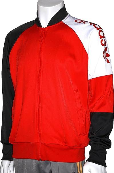 adidas Originals 82 - Chaqueta de Track Top, Rojo/Blanco ...