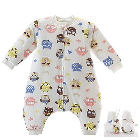 Saco de dormir para bebé Piernas de manga larga desmontables de invierno Forro cálido Saco de