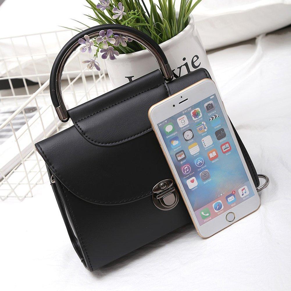 Amyove Woman Retro Metal Buckle Shoulder Bag,Creative All-Match Leisure Handbag Portable Satchel Messenger Bag