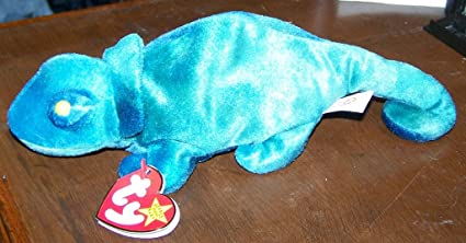 6820f1d20f7 Image Unavailable. Image not available for. Color  TY Beanie Baby - RAINBOW  the Chameleon (dark blue)