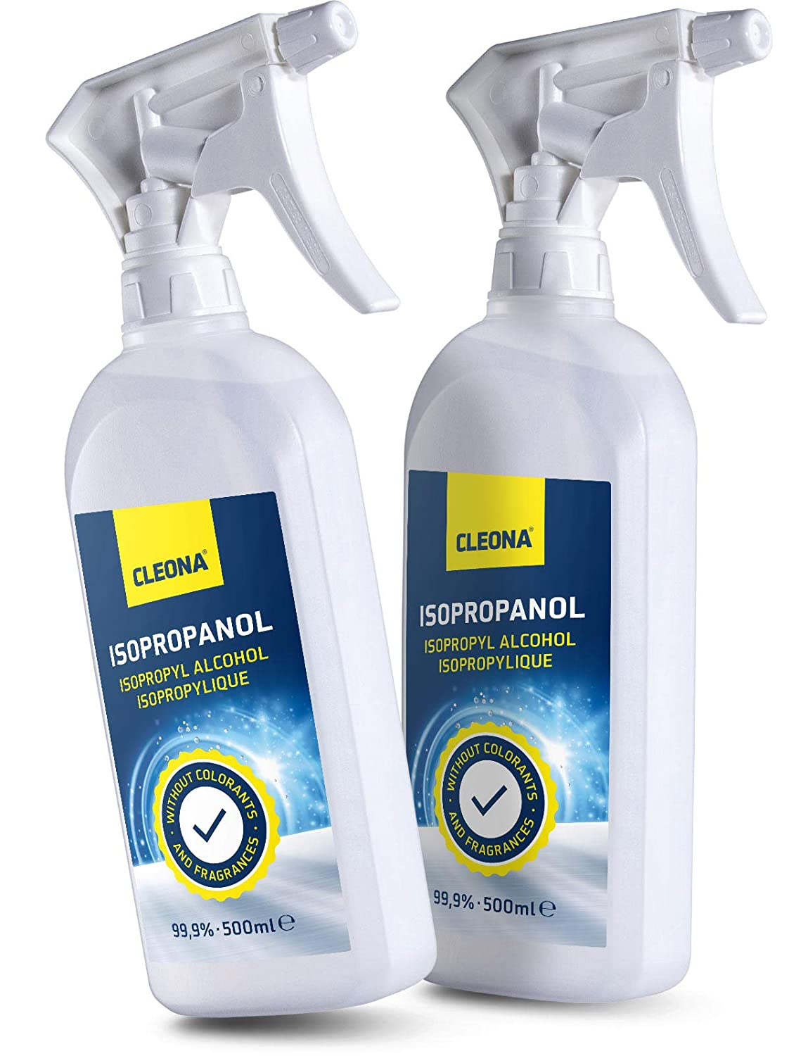 Isopropyl 99, 9% Rubbing Alcohol Isopropanol for Cleaning - 500ml IPA Multi-Use Cleaner Cleona Rubbing Alcohol