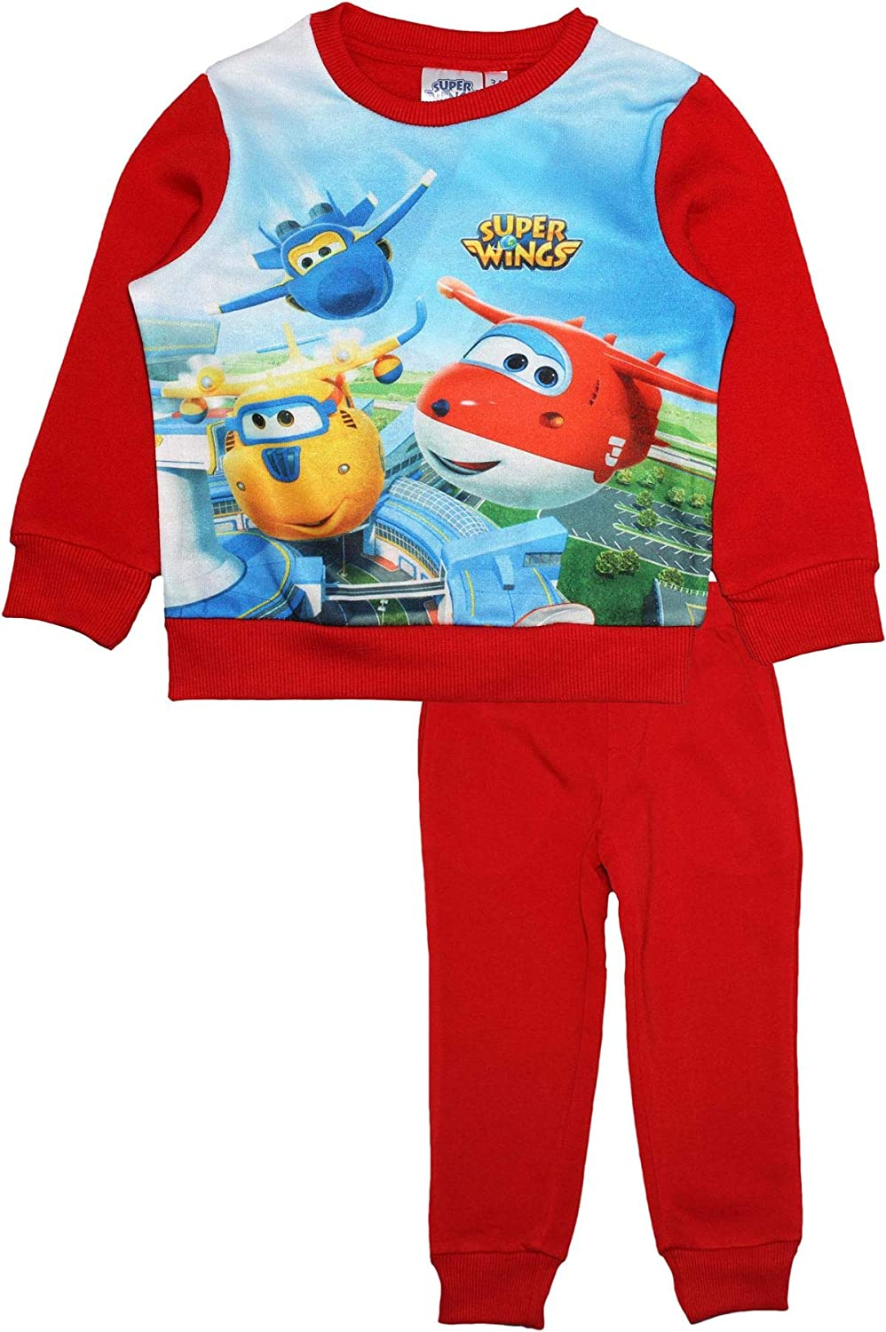 Super Wings Boys Childrens Tracksuit Top and Jogging Bottoms Set