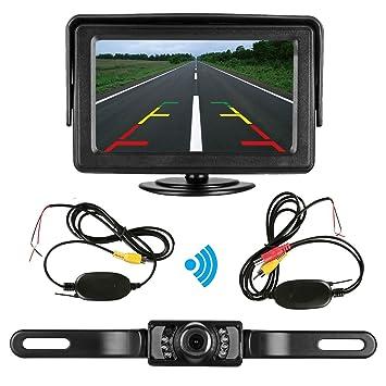 Amazon.com : Emmako Rear View Camera wireless and Monitor Kit 9V ...