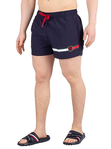 Tommy Hilfiger de los Hombres Swimshorts de cordón Medio, Azul