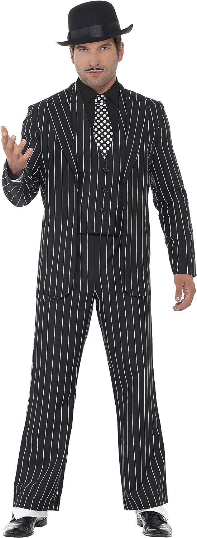 Smiffys Costume de chef des gangsters vintage gilet avec fausse ch cravate avec veste