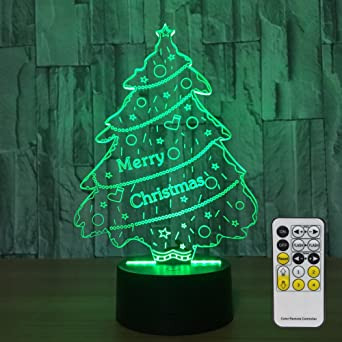night lights for kids with remote controller led touch 7 colors changing desk lamp optical illusion
