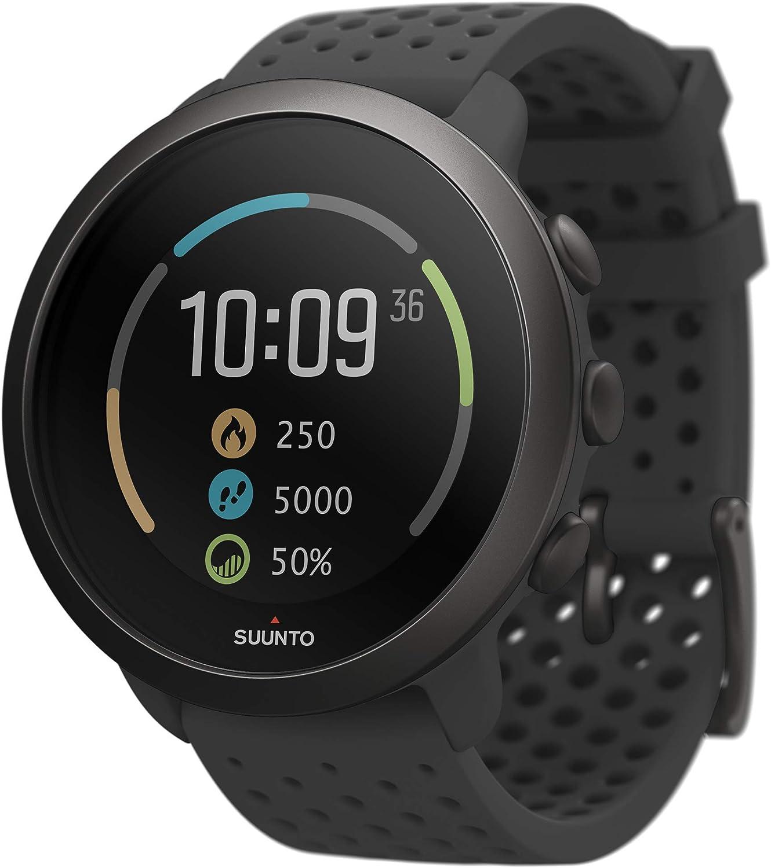 Suunto 3 Reloj deportivo con medición del ritmo cardiaco en la muñeca, Seguimiento 24/7 de actividad física y recuperación