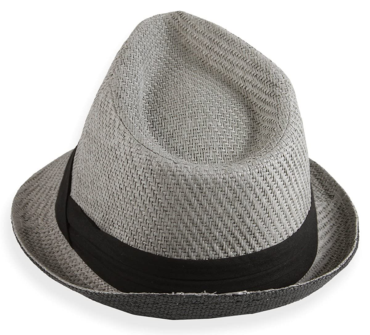 Grey Town Talk Headwear Fedora