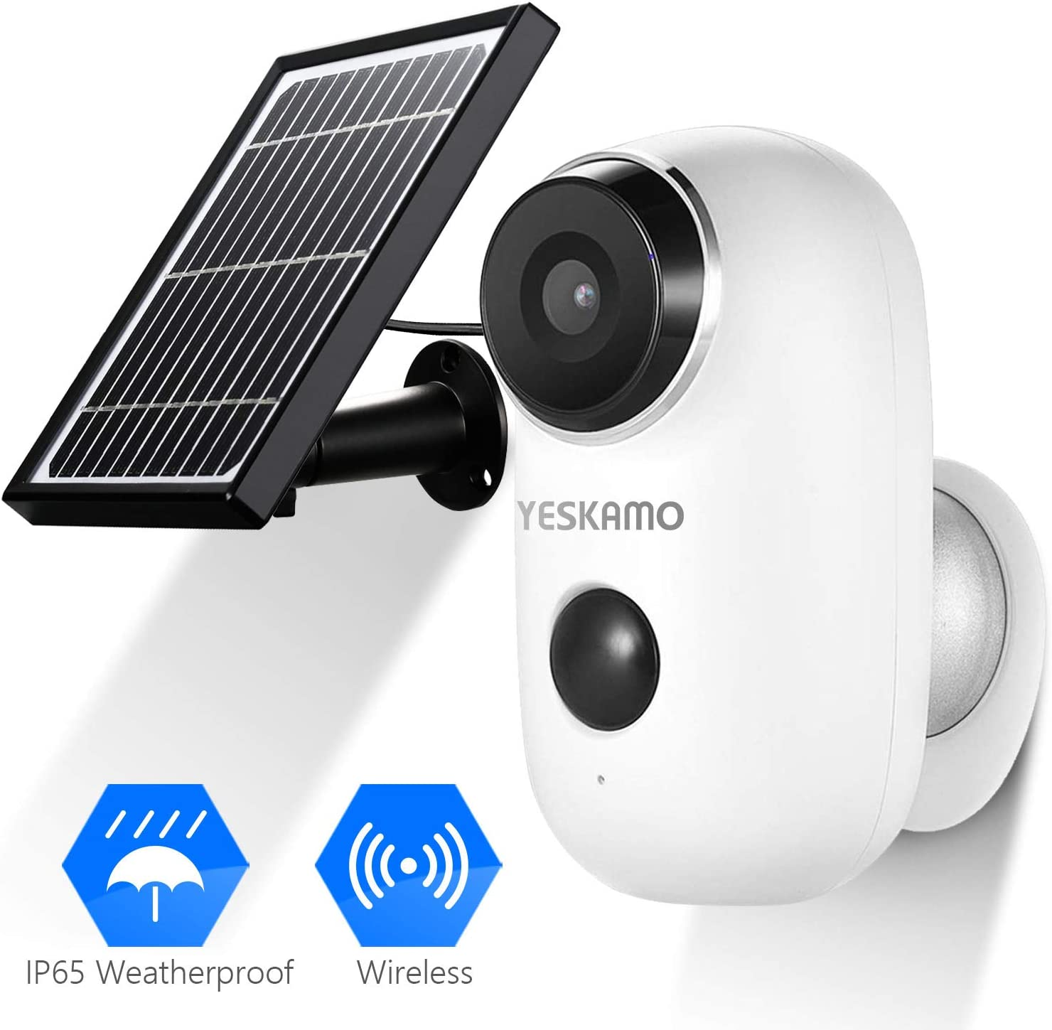 Battery Security Camera Wireless – Solar Powered IP Camera Outdoor 1080P HD Rechargeable Battery Powered WiFi Camera for Home Security, House Video Surveillance System 2 Way Audio Motion Detection