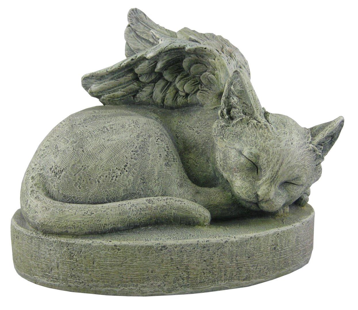 Amazon.com : Sympathy Cat - Cat Angel Pet Memorial Stone : Outdoor ...