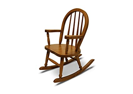 Weaver Craft Childu0027s Rocking Chair Amish Made (Medium Oak)   Fully Assembled