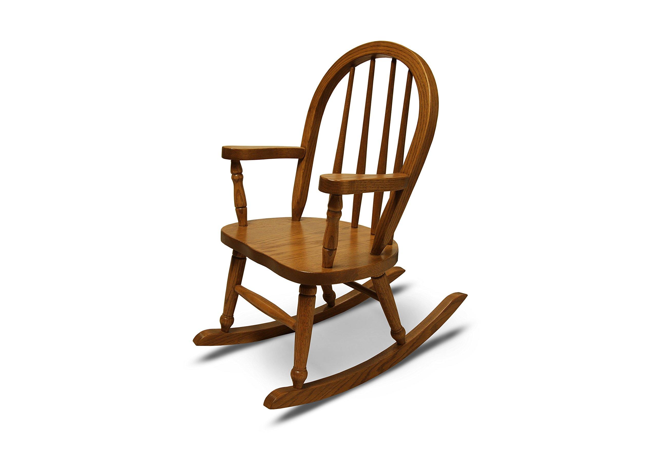 Weaver Craft Child's Rocking Chair Amish Made (Medium Oak) - Fully Assembled