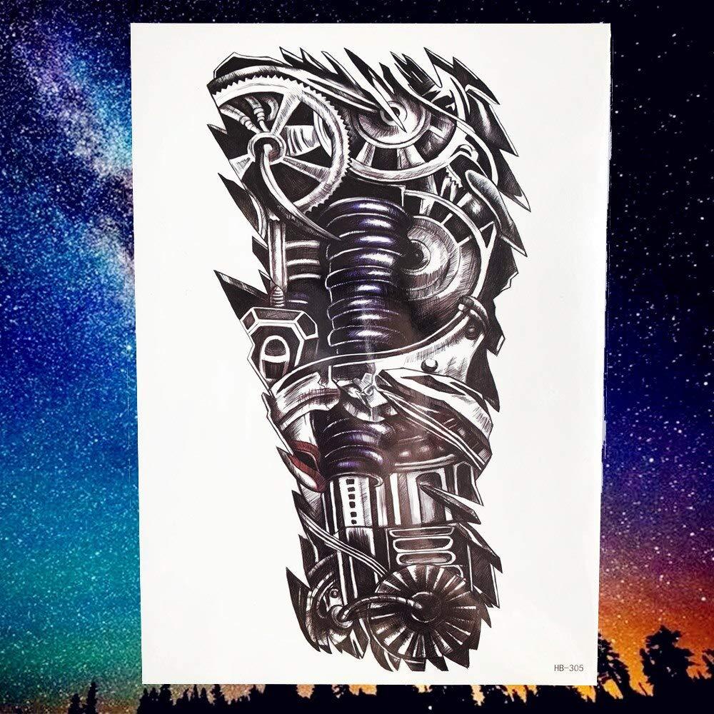 Yyoutop Geometric Lion King Diamond Tattoo Sticker Body Art