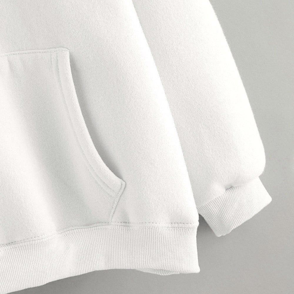 Womens Rabbit Hoodie Long Sleeve Sweatshirt Pullover Tops Blouse