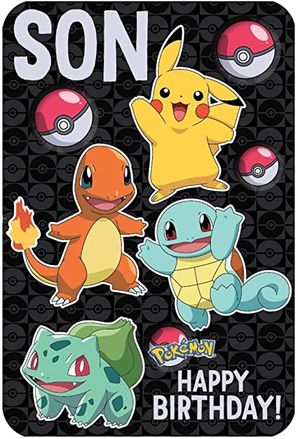 Carte D Anniversaire Pokemon Son Amazon Fr Fournitures De Bureau