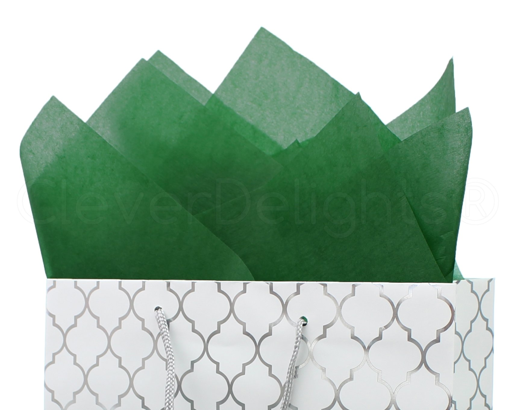 CleverDelights Green Premium Tissue Paper - 100 Sheets - 20'' x 30'' - Acid-Free Gift Paper by CleverDelights (Image #1)
