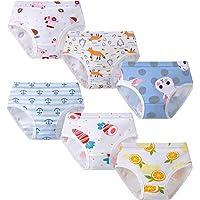Growth Pal 6 Pack Soft 100% Cotton Girls's Panties Boxer Briefs Little Girls' Underwear Toddler Undies