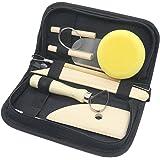 Wartoon 8 Pièce Outils de Poterie Ensemble, Kits D'outils en Bois pour La Sculpture D'argile
