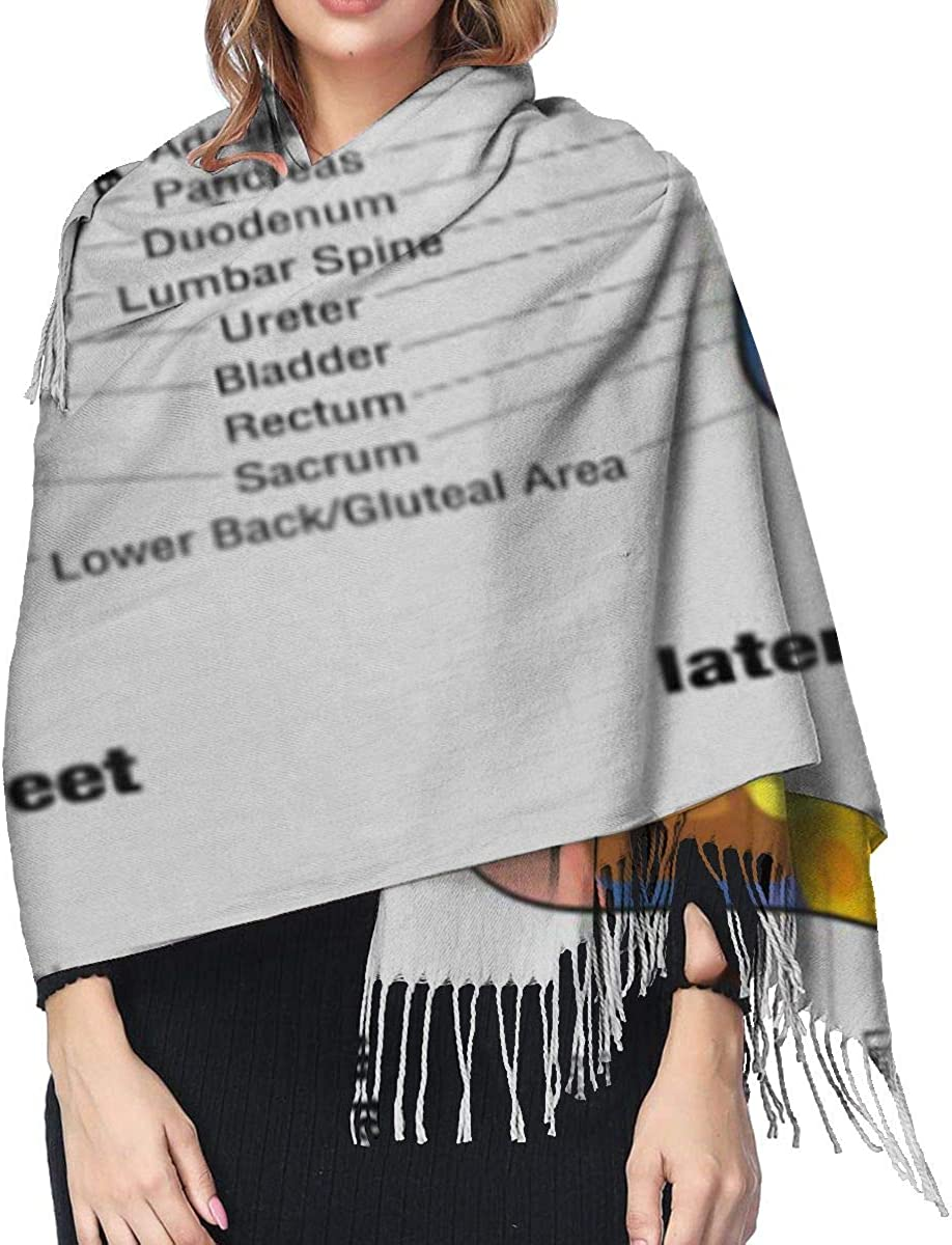 Reflex Zones Of The Feet Soles And Side Views Accurate Description Corresponding Internal Organs Body Soft Cashmere Scarf For Women Fashion Lady Shawls,Comfortable Warm Winter Scarfs
