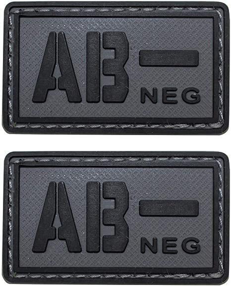PVC Rubber Patch Military Army Tactical Blood Type B Pos Coyote