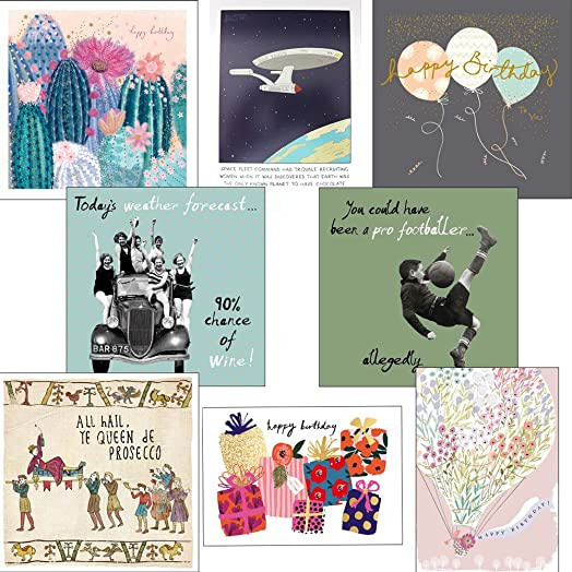 Greeting cards collection Smile 1 8 contemporary and humorous – Birthday Card Collection