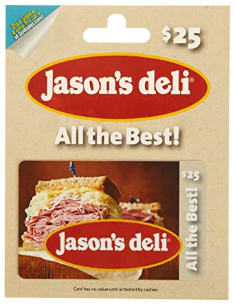 amazon com jason s deli gift card 25 gift cards
