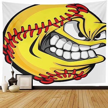 Softball angry. Amazon com alliucoo tapestry