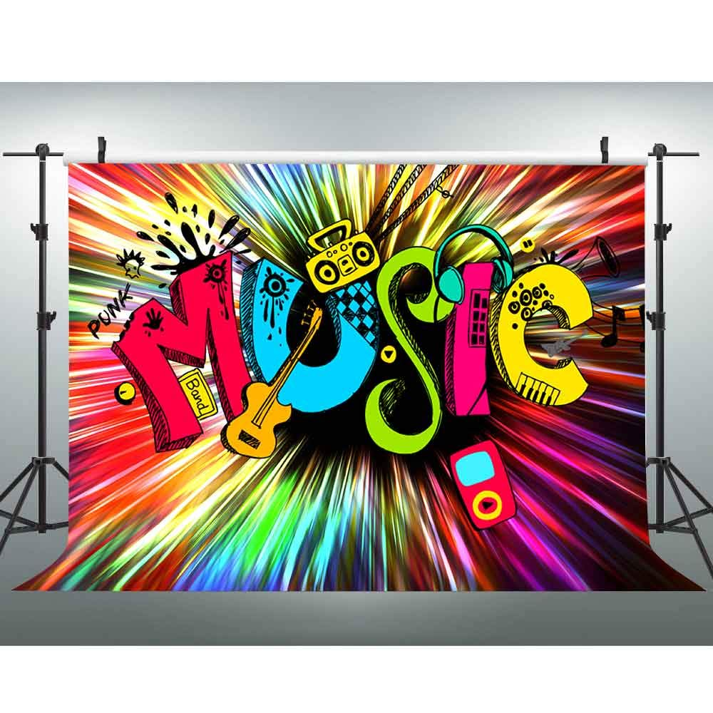 Amazon Com Vvm 7x5ft Abstract Art Backdrop Cool Music