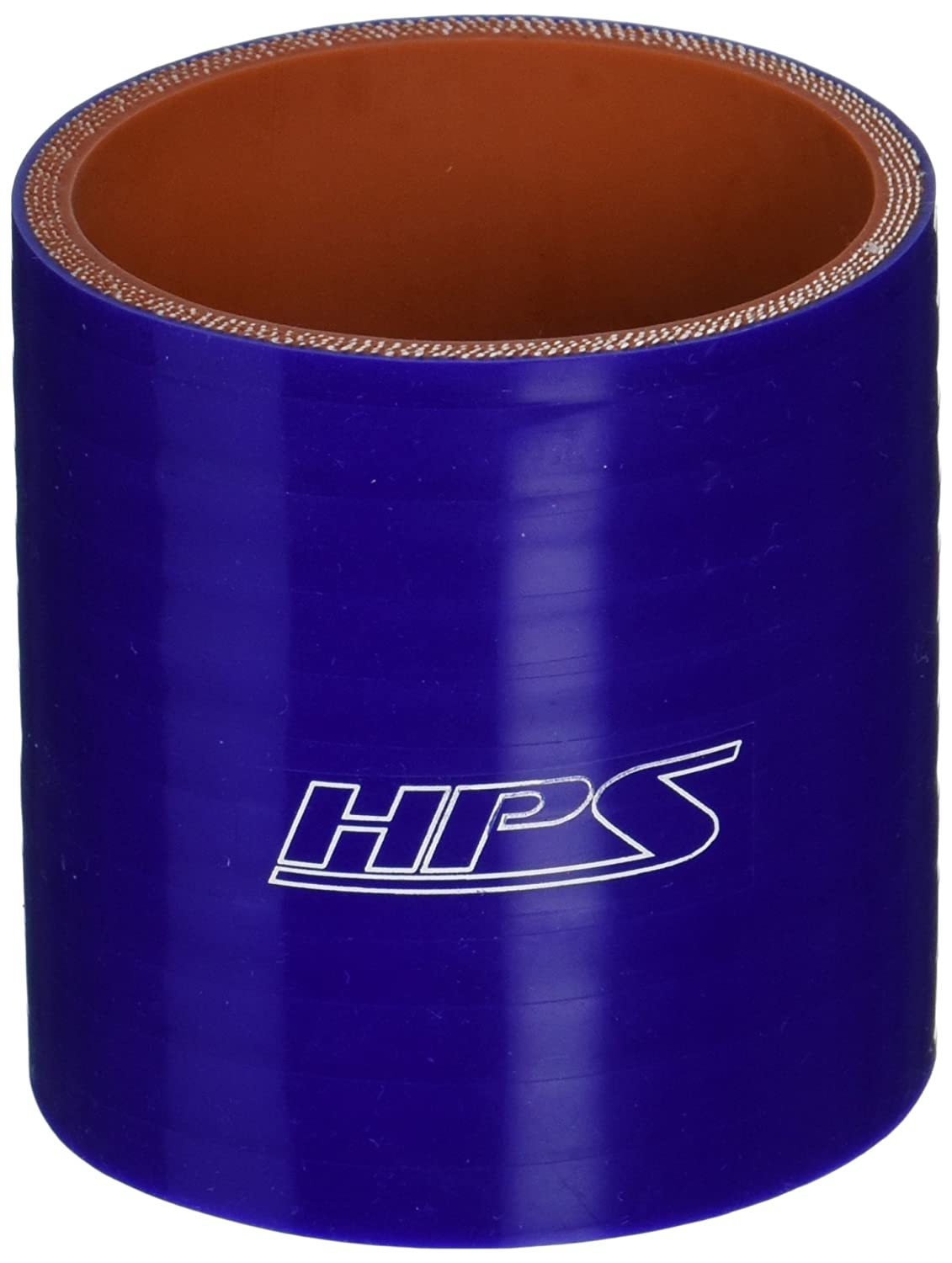 HPS HTSC-250-BLUE Silicone High Temperature 4-ply Reinforced Straight Coupler Hose, 100 PSI Maximum Pressure, 3' Length, 2-1/2' ID, Blue 3 Length 2-1/2 ID HPS Silicone Hoses
